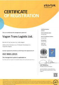Vagon Trans Logistic Ltd. ISO 9001:2015